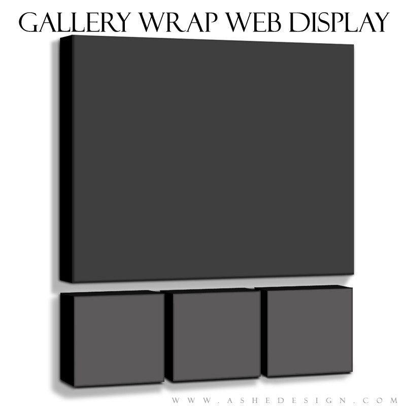 Ashe Design | 6x6 and 20x24 Gallery Wrap Mockup