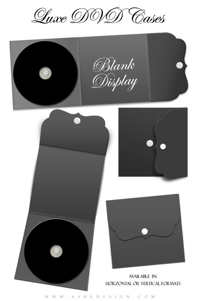 Ashe Design | Luxe DVD Label & Case Mockup
