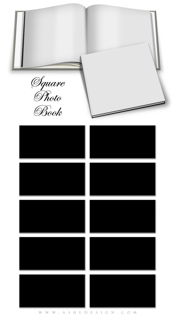Ashe Design | Square Photo Book Mockup