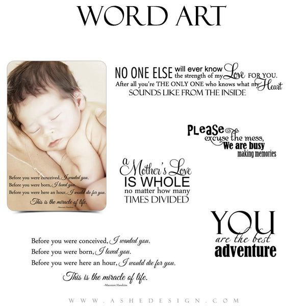 Newborn Word Art Quotes - A Mother's Love