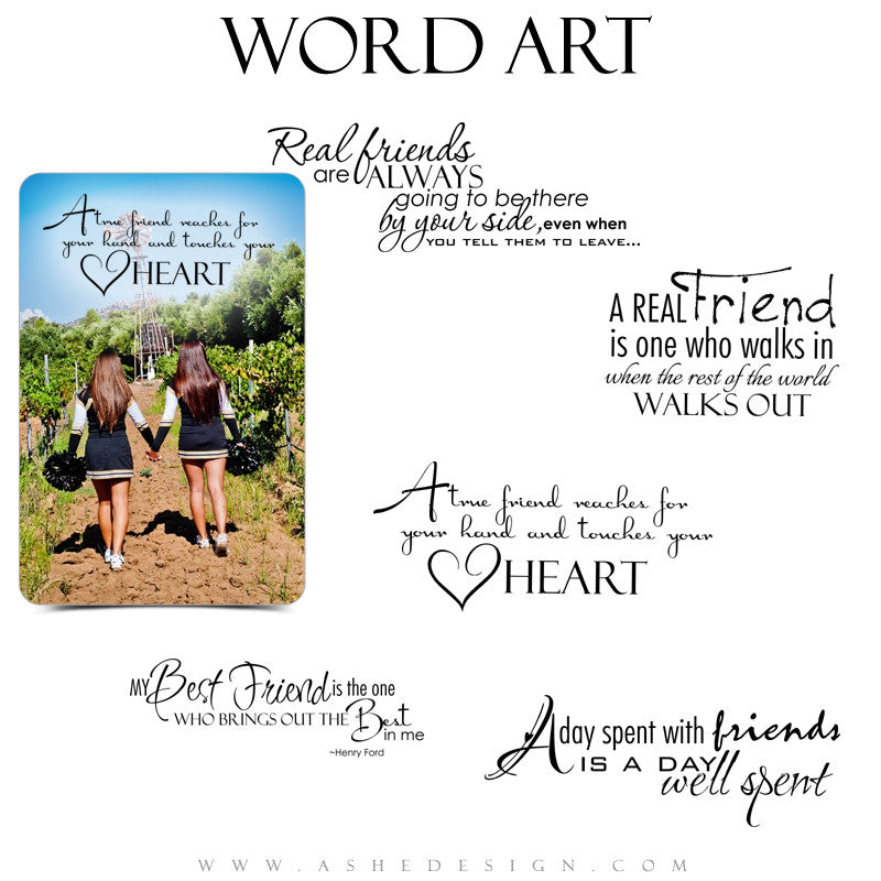 Word Art Collection - Best Friends