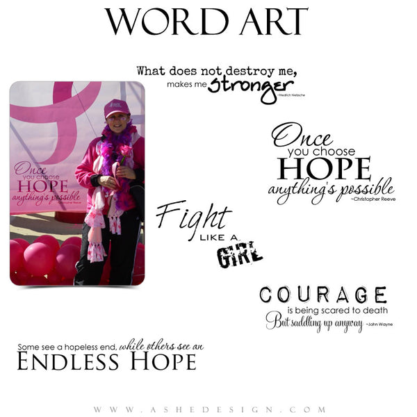 Word Art Collection - Breast Cancer Awareness