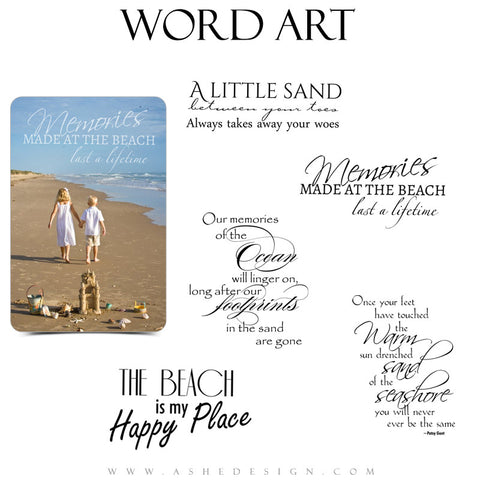 Beach Word Art Quotes - By The Seashore