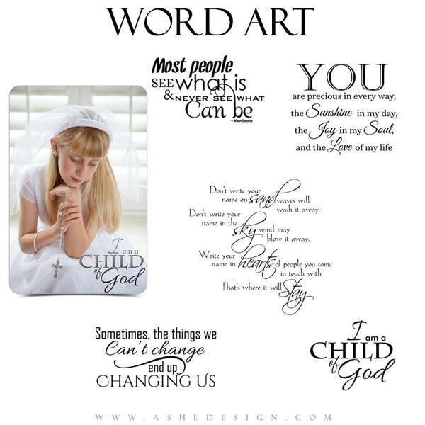 Word Art Collection - Child of God