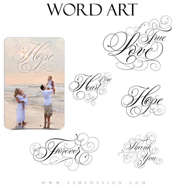 Love Word Art Collection - Curly Words