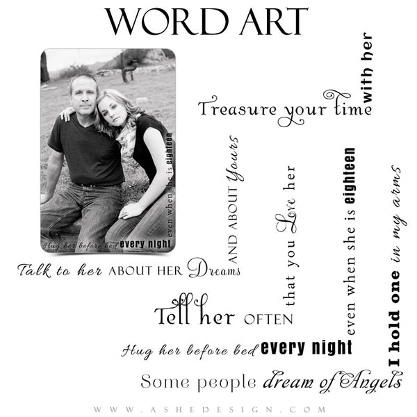 Daughter Word Art Quotes - Dreaming Of Angels