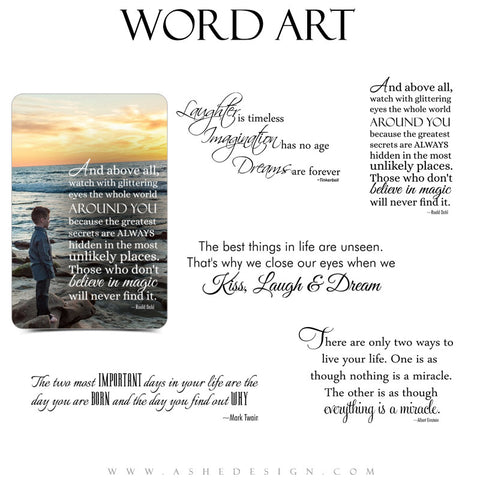 Motivational Word Art Collection - Dreams Are Forever