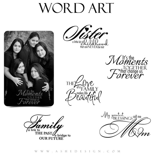 Inspirational Word Art Quotes - Family Ties