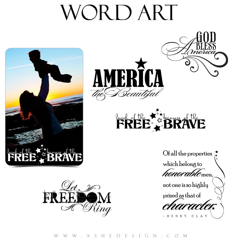 Word Art Collection | God Bless America