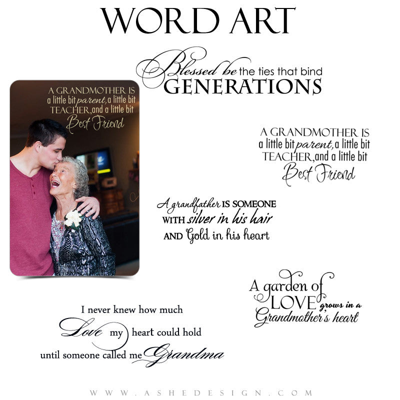 Family Word Art Quotes Grandparents Ashedesign