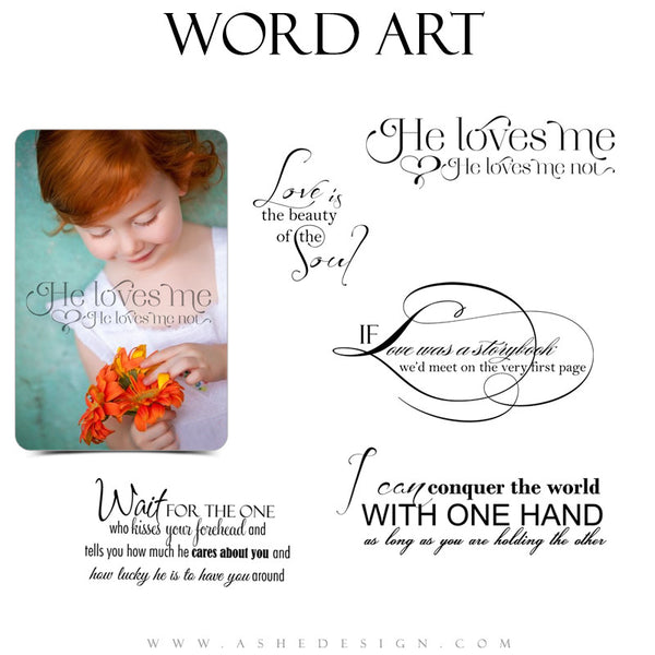 Love Word Art Quotes - He Loves Me