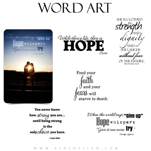 Inspirational Word Art Quotes - Hope