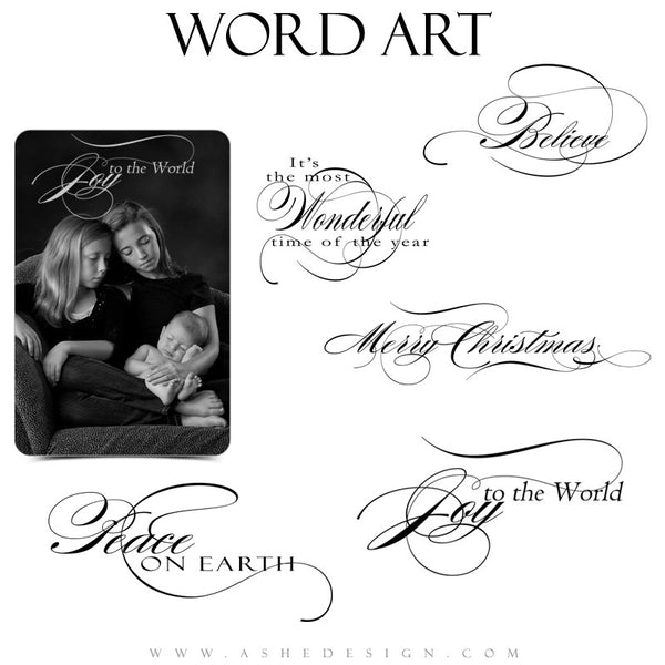 Christmas Word Art Quotes - Joy To The World