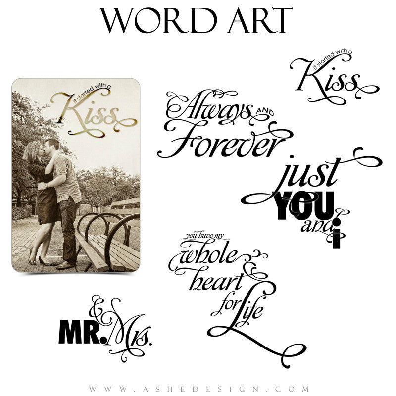 Love Word Art Quotes - Just You & I
