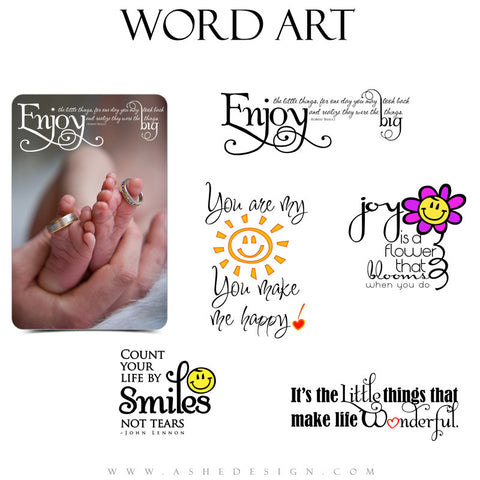 Inspirational Word Art Quotes - Little Things