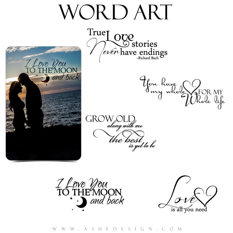 Love Word Art Quotes - Love Story