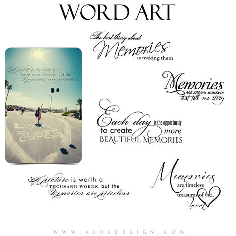 Inspirational Word Art Quotes - Memories
