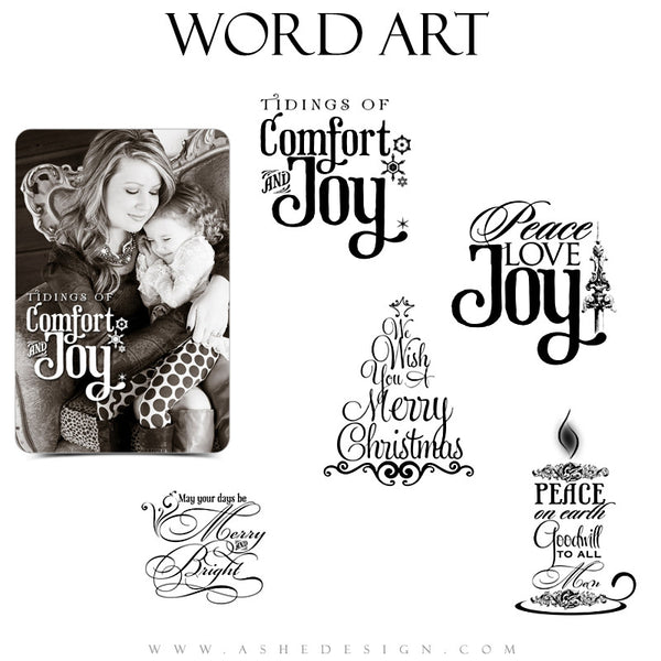 Word Art Collection - Merry Christmas