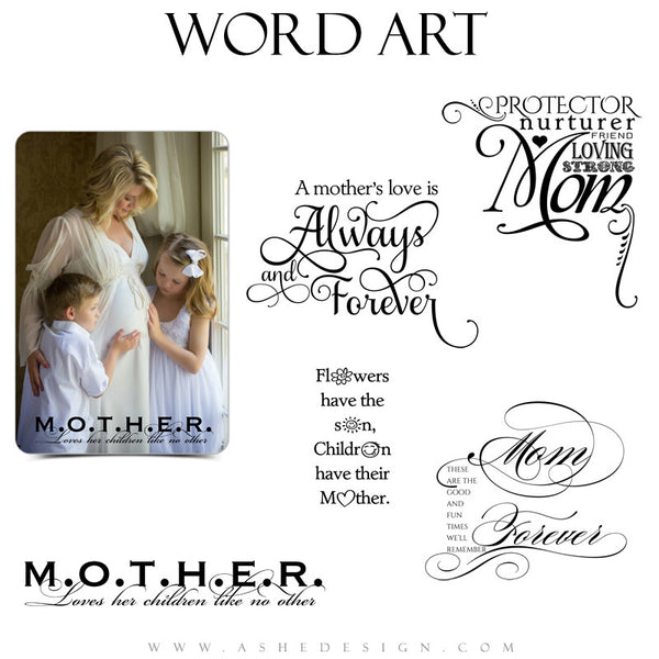 Family Word Art Quotes - Mom