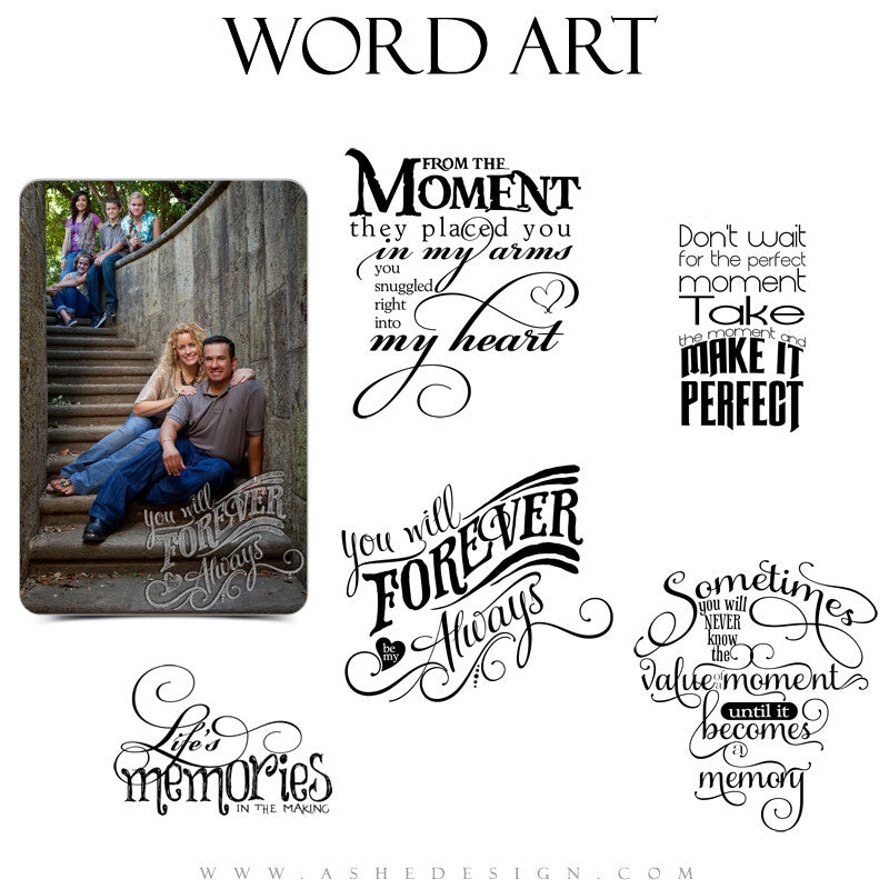 Inspirational Word Art Quotes - Moments Become Memories