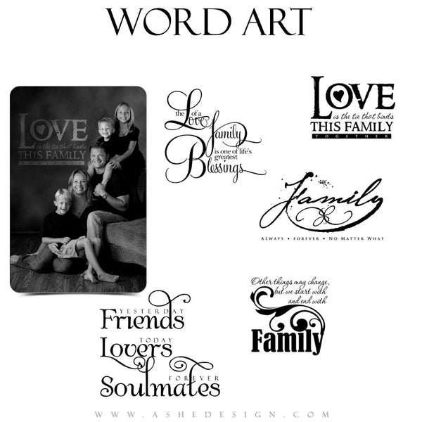 Love Word Art Quotes - My Family