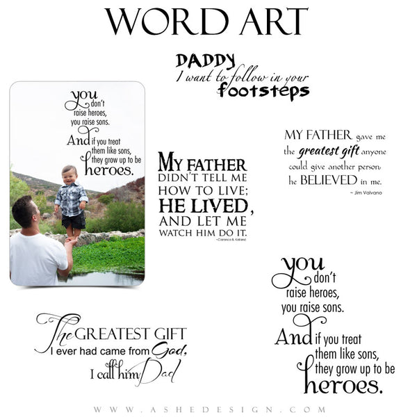 Family Word Art Quotes - My Father