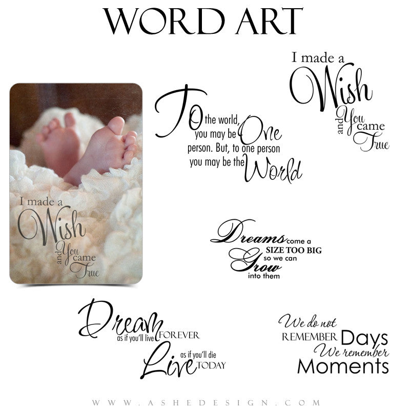 Inspirational Word Art Collection - My Inspiration