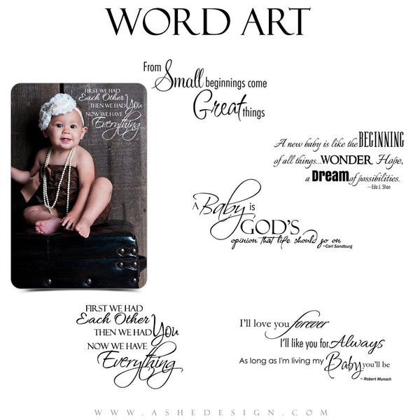 Newborn Word Art Quotes - Oh Baby