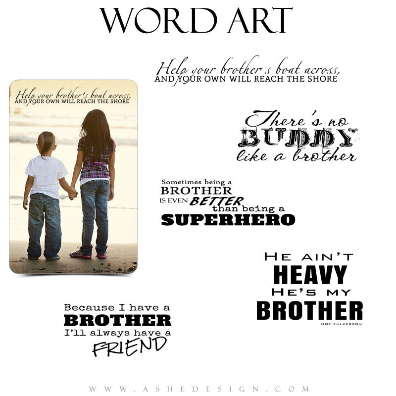 Brother Word Art Quotes - Oh Brother