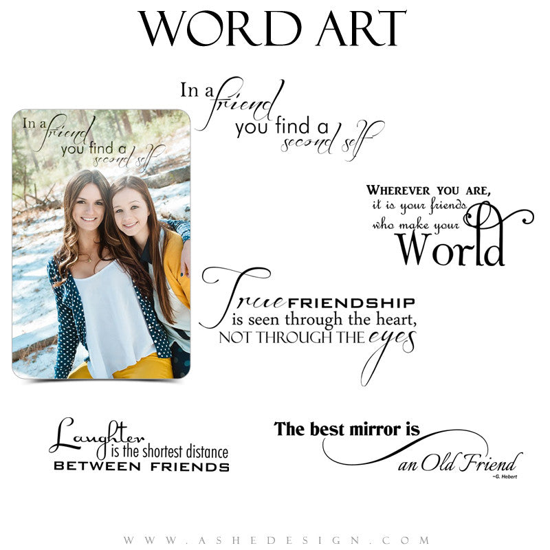 Friendship Word Art Collection - Old Friend