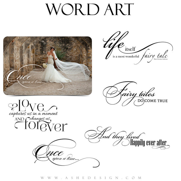 Love Word Art Collection - Once Upon a Time