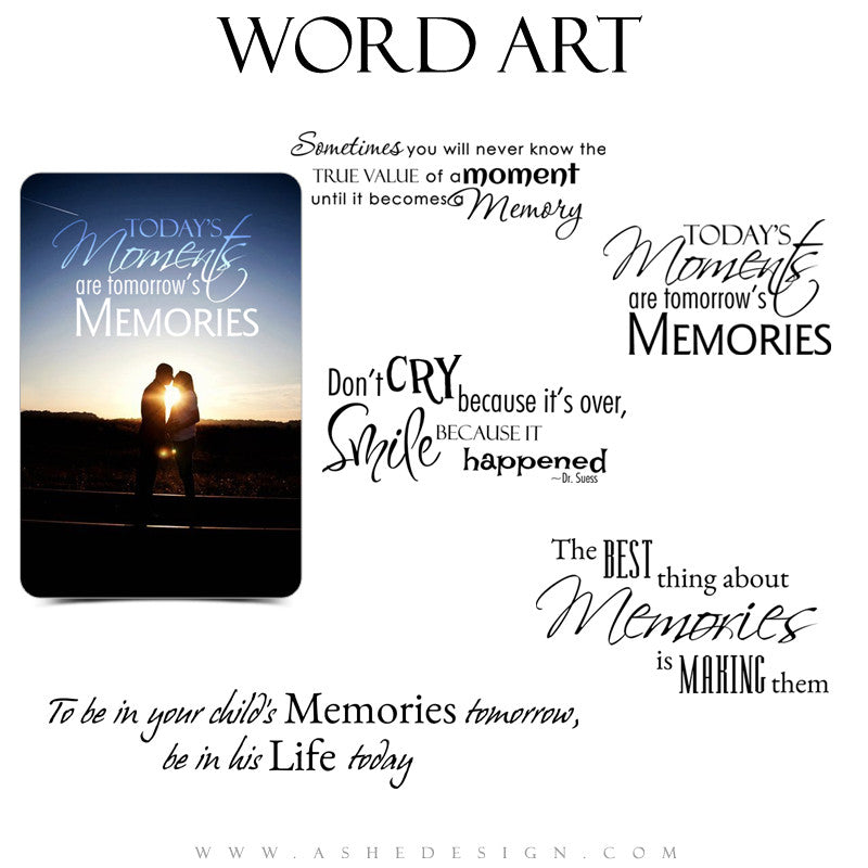 Inspirational Word Art Quotes - Precious Memories