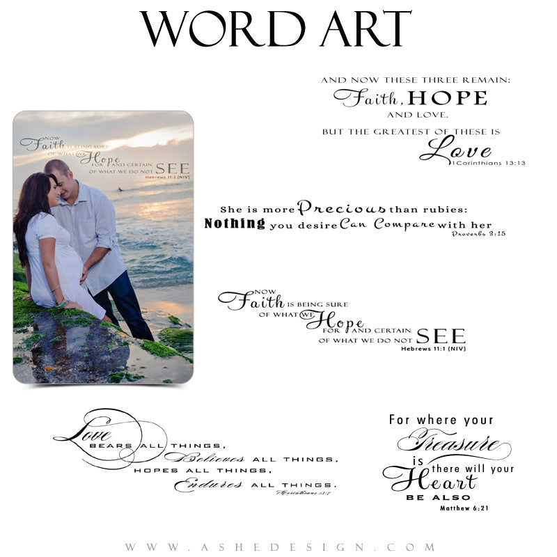 Religious Word Art Collection - Scriptures