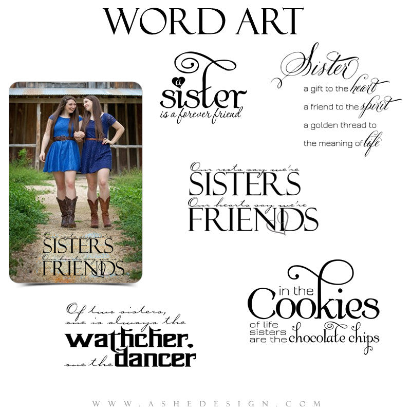Family Word Art Quotes - Sister Friend
