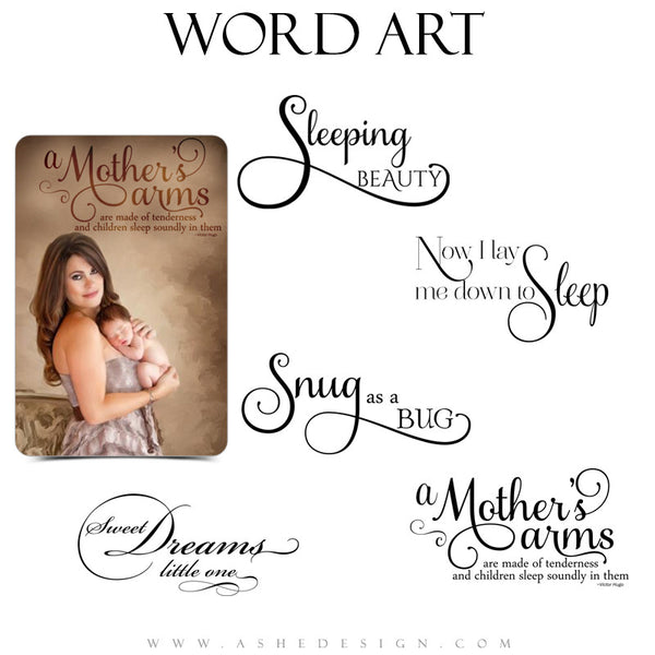 Newborn Word Art Quotes - Sleeping Beauty