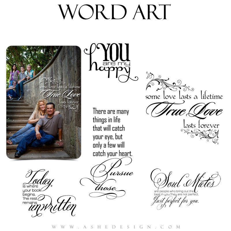 Love Word Art Quotes - Soul Mates