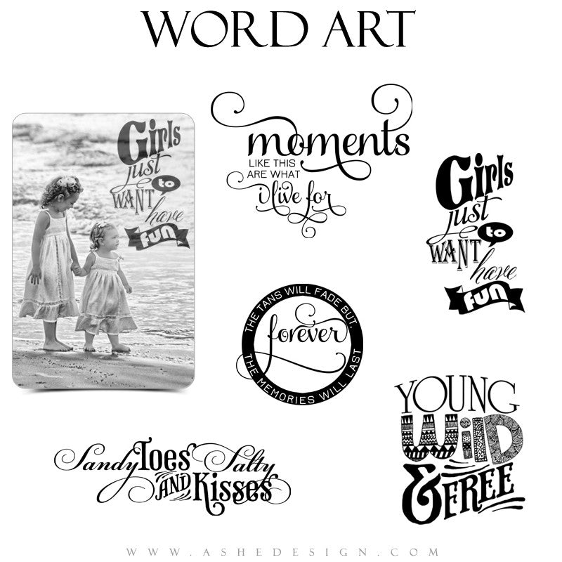 Beach Word Art Quotes - Summer Fun