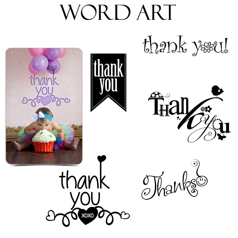 Word Art Collection - Thank You Kids