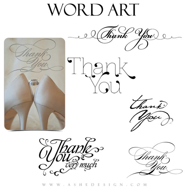 Thank You Word Art Set - Thank You Script
