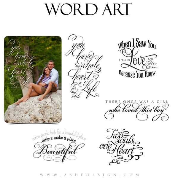 Love Word Art Quotes - Together Forever