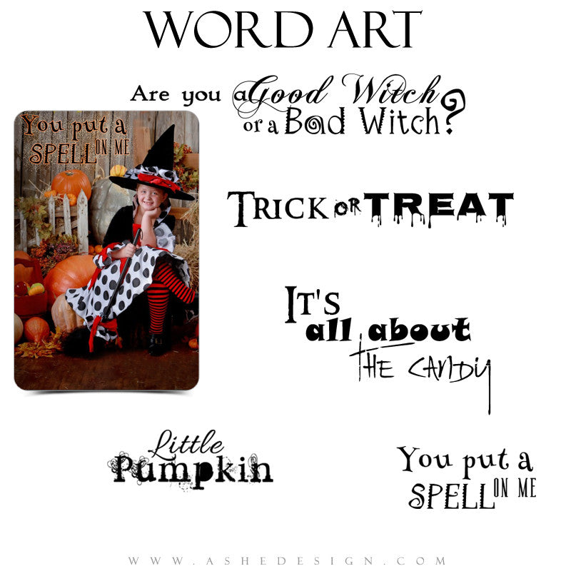 Word Art Collection - Trick Or Treat