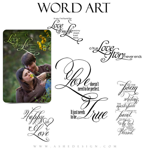 Love Word Art Quotes - True Love