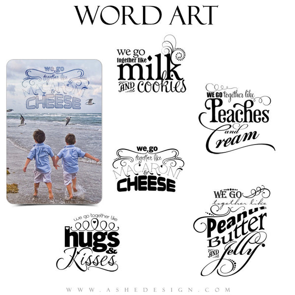Love Word Art Quotes - We Go Together