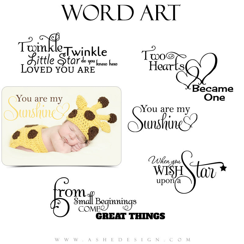 Newborn Word Art Quotes You Are My Sunshine Ashedesign