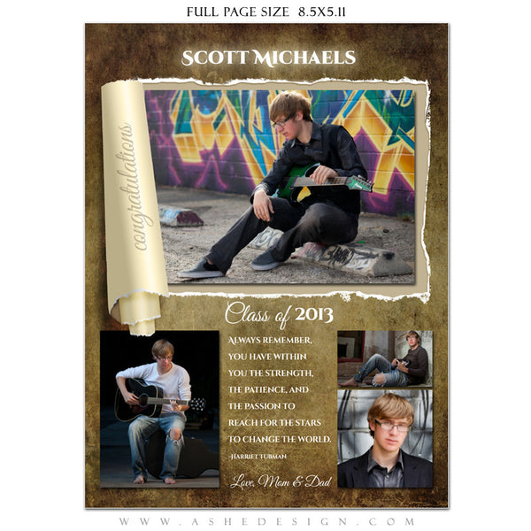 Ripped Yearbook Templates for Photographers