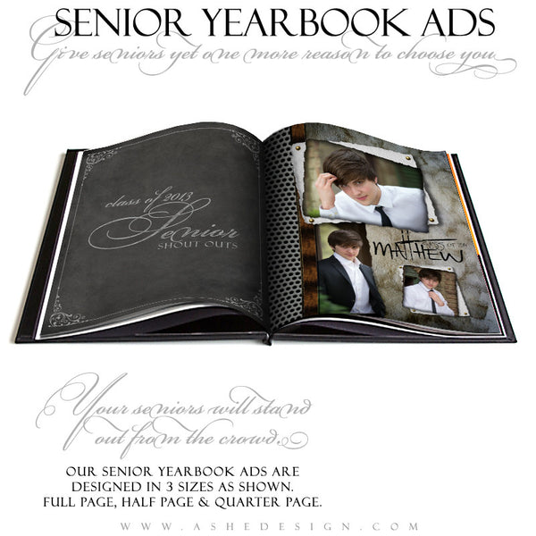 Scrap Metal Yearbook Templates for Photographers