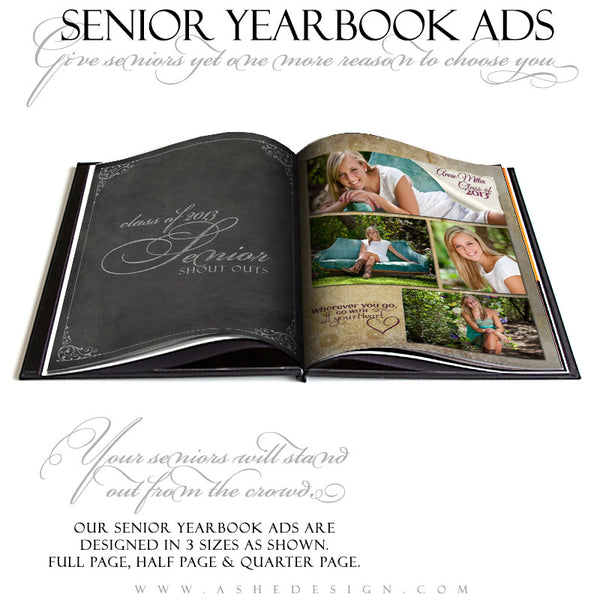 Scrolled Yearbook Templates for Photographers