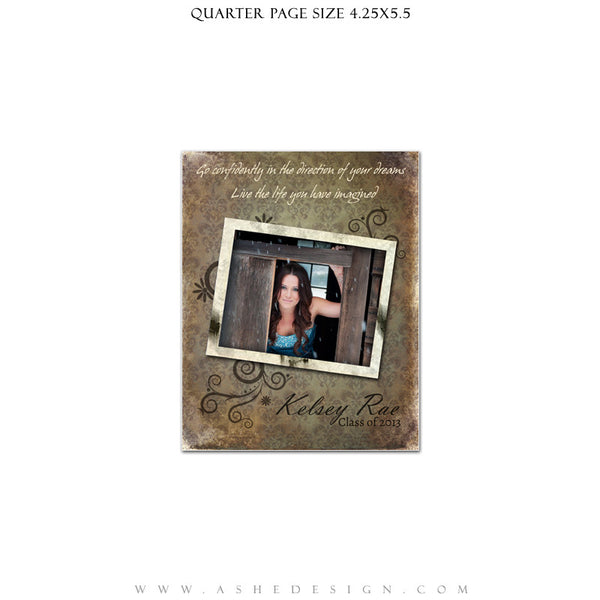 Shabby Chic Yearbook Templates for Photographers