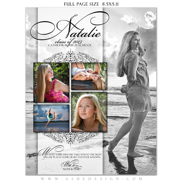 Ashe Design | Simply Classic Yearbook Templates for Photographers