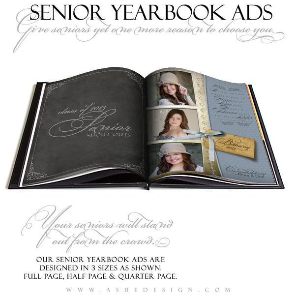 Spring Rain Yearbook Templates for Photographers